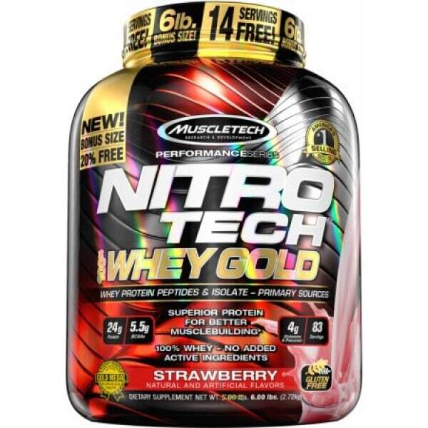 MuscleTech - Nitro Tech Whey Gold 6lb Протеин на прах